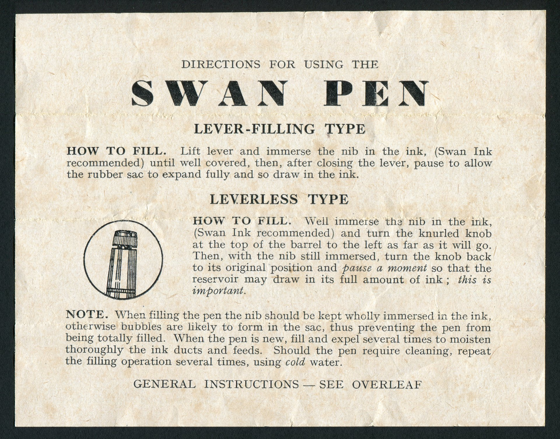 pen directions (front)
